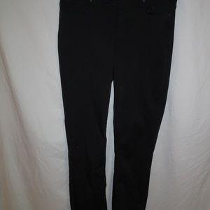 Lands' End Womens Black Casual Pants Size 12